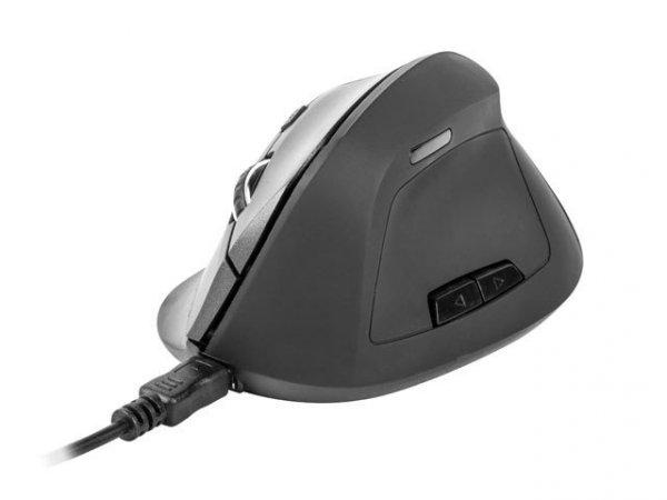 Mysz bezprzewodowa wertykalna Crake nano optyczna 2000DPI czarna