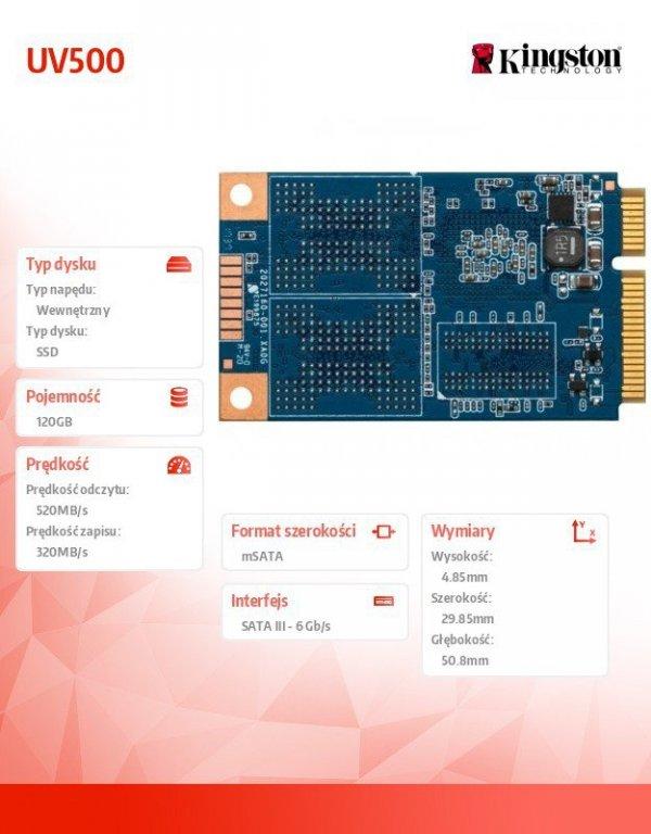 UV500 120GB mSATA 520/320 MB/s