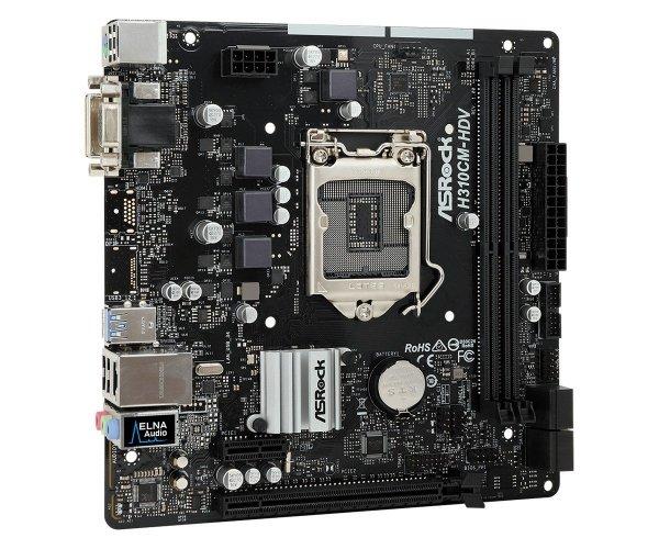 Płyta główna H310CM-DVS s1151 2DDR4 DVI/DSUB/USB3.1 uATX