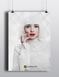 poster all white