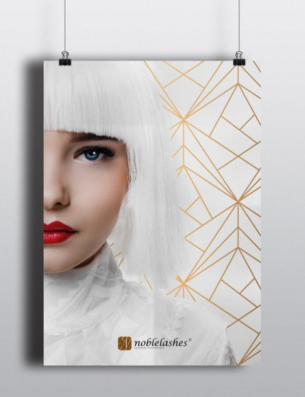 Poster White & Gold Noble Lashes