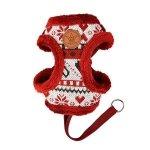 Świąteczne , bordowe szelki dla psa Joy od Pinkaholic