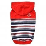Zimowa, czerwona bluza z kapturem od Puppia