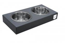 Dog bowl Duo graphite