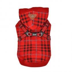 Hoddie DEAN red with harness