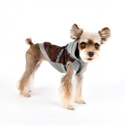 Hoodie VALE Brown with Harness