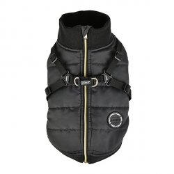 Winter jacket with harness FROST black