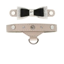 Luxurious PRESTIGE collar - beige for small dogs