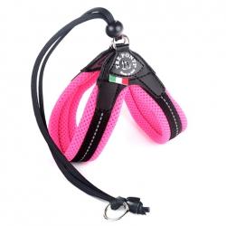 Szelki  MESH Easy FIt różowe regulowane na plecach