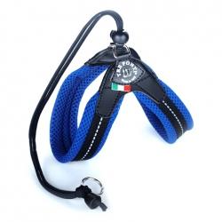 Szelki  MESH Easy FIt niebieskie regulowane na plecach