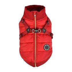 Zimowa kurtka z szelkami FROST czerwona