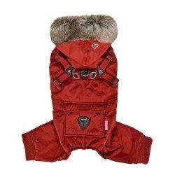 Zimowy kombinezon dla psa ADDIE - bordowy