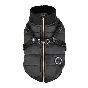 Zimowa kurtka z szelkami FROST czarna