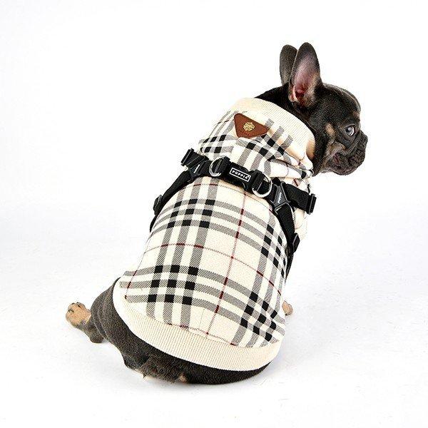 Bluza beżowa z szelkami od Puppia