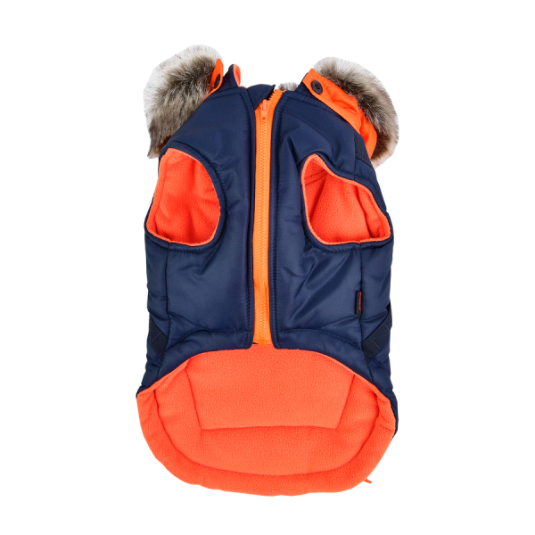 Luksusowa, zimowa kurtka dla psa z kapturem od Puppia