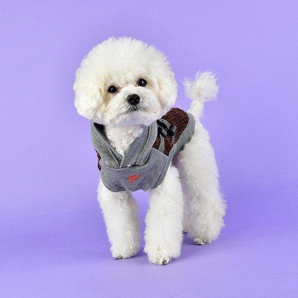 Bluza VALE brązowa z szelkami Puppia