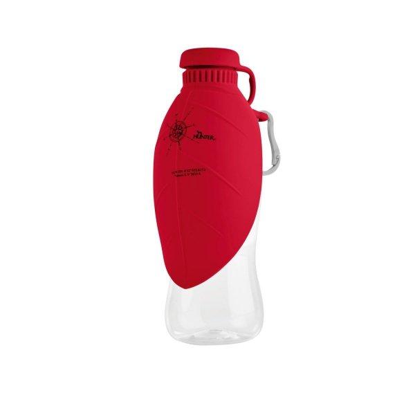 Podróżna butelka z silikonową miseczką LIST czerwona