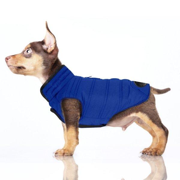 dwustronna, zimowa, puchowa kurtka dla psa od Milk&Pepper