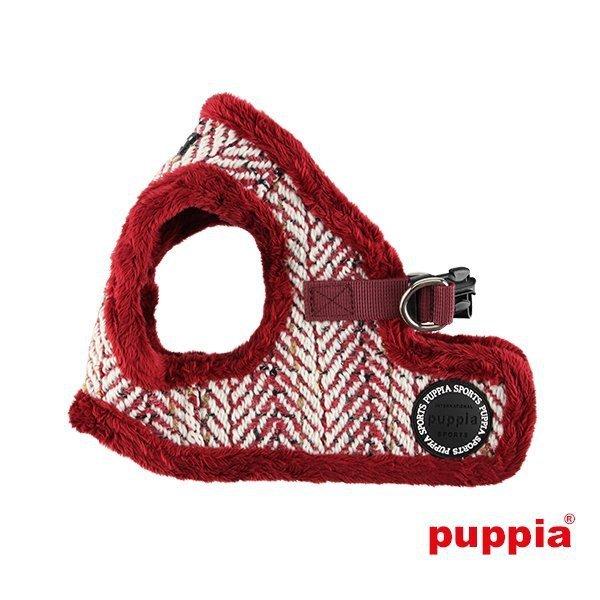 Ocieplane, bordowe szelki - kamizelka OZ od Puppia