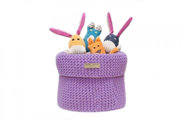 Luksusowy koszyk na zabawki COTTON liliowy
