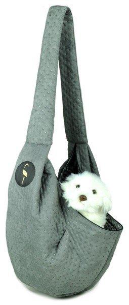 Sportowa torba nosidło SARA szara pikowany