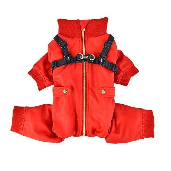 Zimowy kombinezon z szelkami GARNET czerwony Puppia