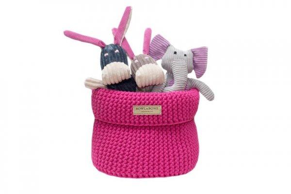 Luksusowy koszyk na zabawki COTTON różowy