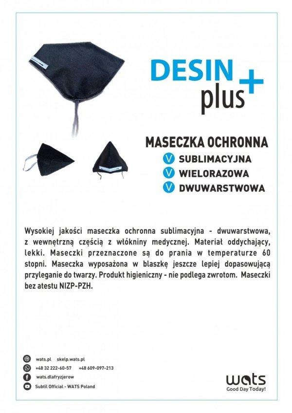 DesinPlus maseczka ochronna 2 warstwowa (wielorazowa).