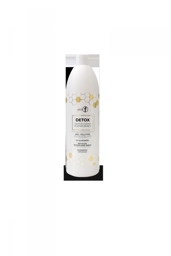 Szampon Pro-f DETOX. Głęboko oczyszczający profesjonalny szampon do włosów.