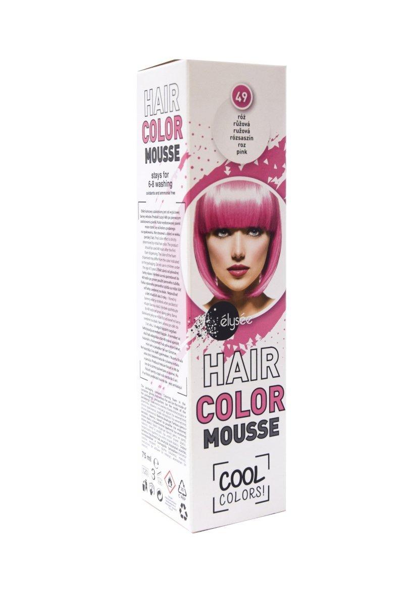 Elysee koloryzująca pianka do włosów 75 ml. Kolor różowy. Nr 49.