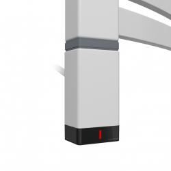 Grzałka One T36x40 Lewy 800W Kolor Silver Mat z Kablem Spiralnym