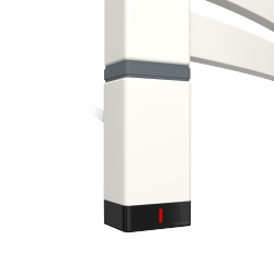 Grzałka One T36x40 Lewy 400W Kolor Biały z Kablem Spiralnym