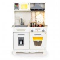 Drewniana kuchnia dla dzieci dźwięki led + akcesoria