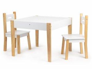 Stół stolik z dwoma krzesłami zestaw mebli dla dzieci ECOTOYS