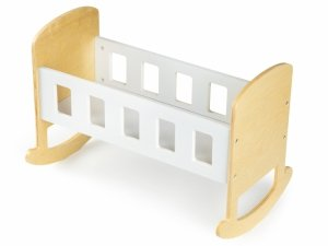 Drewniana kołyska łóżeczko dla lalek ECOTOYS