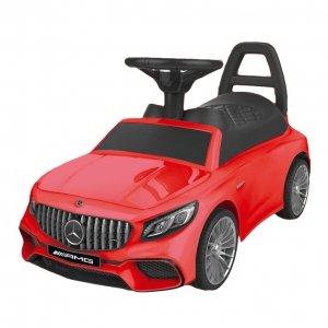 Jeździk Mercedes dźwięki LED - czerwony