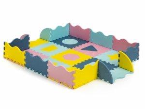 Mata piankowa z płotkiem puzzle suchy basen 37 elementów Ecotoys