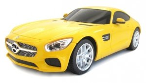 Mercedes-AMG GT 1:24 RTR (zasilanie na baterie AA) - Żółty