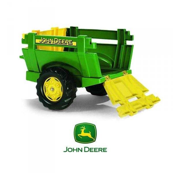 Rolly Toys rollyTrailer Przyczepa Farm JOHN DEERE Otwierane Burty