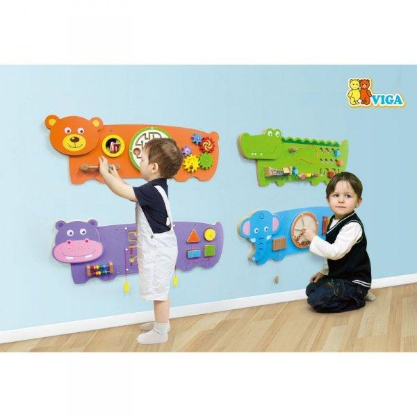 Viga Toys Sensoryczna tablica Manipulacyjna Miś