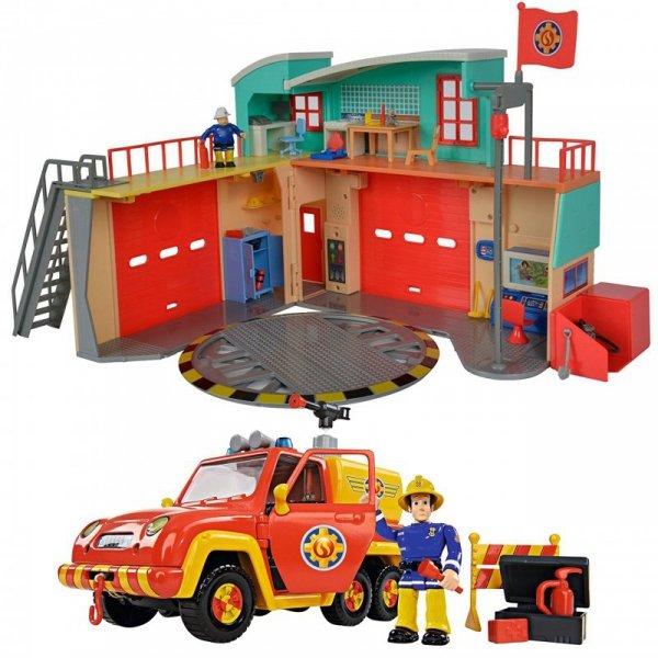 SIMBA Strażak SAM Pojazd Strażacki Figurka Akcesoria Dźwięk