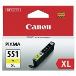 Canon oryginalny wkład atramentowy / tusz CLI551Y XL. yellow. 11ml. 6446B001. high capacity. Canon PIXMA iP7250. MG5450. MG6350 6446B001