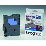 Brother oryginalna taśma do drukarek etykiet. Brother. TX-335. biały druk/czarny podkład. laminowane. 8m. 12mm TX335