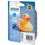 Epson oryginalny wkład atramentowy / tusz C13T055240. cyan. 290s. 8ml. Epson Stylus Photo RX425. 420 C13T05524010