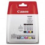Canon oryginalny wkład atramentowy / tusz PGI-570/CLI-571 PGBK/C/M/Y/BK Multi pack. black/color. 0372C004. Canon Pixma MG575x. MG685x. MG775x 0372C004