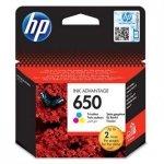 HP oryginalny wkład atramentowy / tusz CZ102AE#BHK. No.650. color. 200s. HP Deskjet tusz Advantage 2515 AiO. 3515 e-Ai0 CZ102AE#BHK