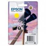 Epson oryginalny ink C13T02V44010, 502, T02V440, yellow, 165s, 3.3ml, Epson XP-5100, XP-5105, WF-2880dwf, WF2865dwf C13T02V44010