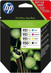 HP Tusz 950XL Black/951XL Cy/Mag/Ye 4Pack C2P43AE