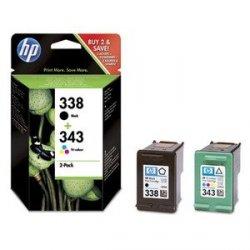 HP oryginalny wkład atramentowy / tusz SD449EE. No.338 + No.343. black/color. 480/330s. 2szt. HP 2-Pack. C8765EE + C8766EE