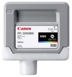 Canon oryginalny wkład atramentowy / tusz PFI306MBK. matte black. 330ml. 6656B001. ploter iPF-8300
